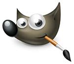 GIMP fotobewerking logo