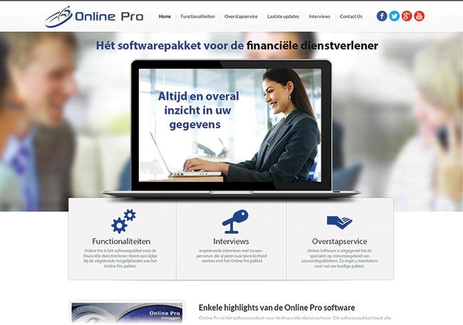 Online Pro; sitedesign
